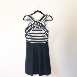Anthropologie Maeve Crosswise Dress Striped